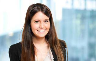 ritratto sorridente della donna di affari foto