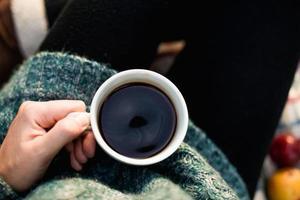 bere caffè foto