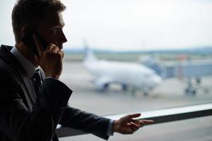 chiamando in aeroporto foto