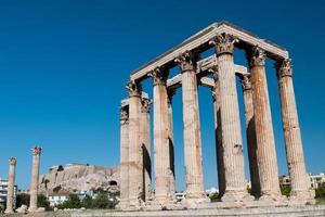 Tempio di Zeus Olimpio, Atene Grecia foto