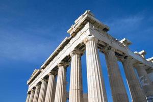 partenone sull'acropoli di atene foto