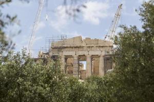 Partenone del tempio antico nell'acropoli Atene Grecia