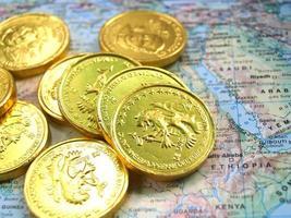 pila della moneta dei soldi foto