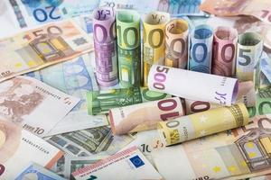 sfondo di denaro europeo