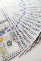 $ 100 banconote da un dollaro americano foto
