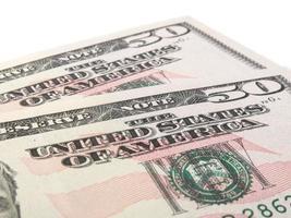 due banconote da 50 dollari USA foto