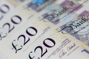 banconote da venti sterline (sterline) foto