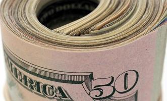 primo piano del bankroll degli Stati Uniti foto