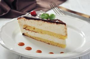pezzo di torta soufflé foto