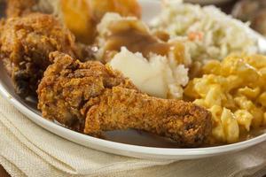 pollo fritto del sud fatto in casa foto