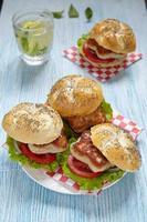 hamburger di pollo foto