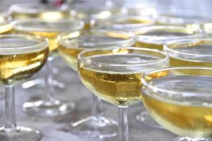 bicchieri di champagne da coupé foto