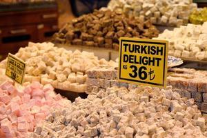 delizia tradizionale turca al Grand Bazaar, Istanbul, Turchia. foto