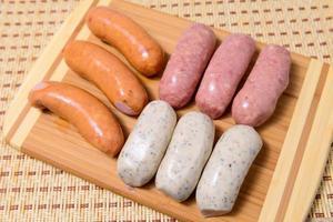 salsicce di carne foto