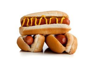 hot dog su bianco foto