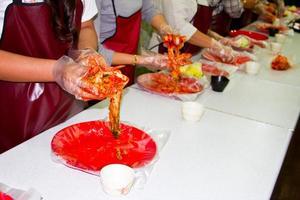 kimchi, cibo tradizionale coreano foto