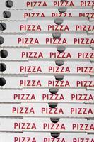 scatola per pizza foto