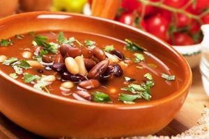 zuppa di fagioli foto