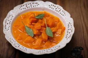 zuppa di zucca e lenticchie foto