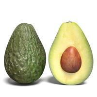 mezzo fondo bianco dell'avocado foto