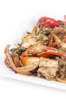 cucina tailandese, granchio fritto con curry