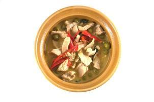 cibo tailandese, maiale al curry verde