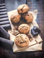 biscotti al cioccolato dolce foto