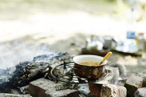 cucina da campeggio foto