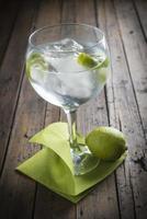 gin tonic guarnito con lime foto