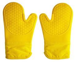 guanti da forno gialli foto