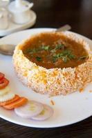 gustoso riso indiano biryani pollo cucina