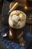 Galleggiante birra scura scura congelata foto