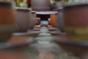 tazze di argilla cotta foto