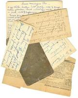 vecchie ricette di carta foto