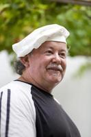 chef sorridente foto