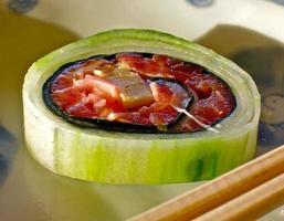sushi di cetriolo foto
