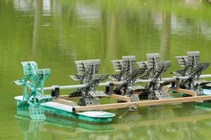 ruota idraulica della turbina di trattamento delle acque foto