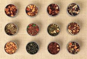 foglie di tè foto