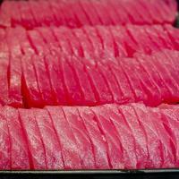 sfondo di sashimi - sushi giapponese foto
