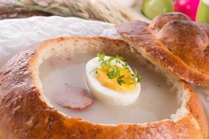 zuppa di segale acida foto