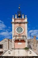 torre dell'orologio a Zagabria foto