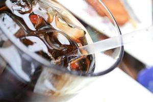 vetro bagnato di cola foto