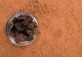 immagine di sfondo della polvere di noce di cola foto