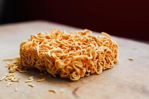Noodles istantanei foto