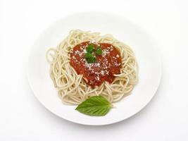 piatto di spaghetti foto