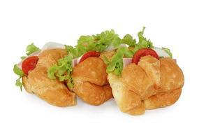 panino fresco con prosciutto e verdure foto