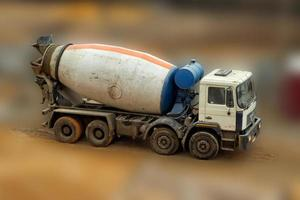 camion betoniera. foto