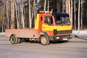 """il camion trasportatore di auto per relitti di salvataggio trasporta la mia serie di """"camion"""" foto"""