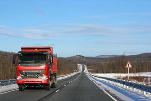 camion rosso foto