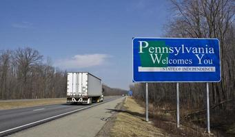 camion semi in Pennsylvania foto